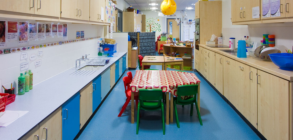 eating area at primary school