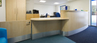 reception office desk