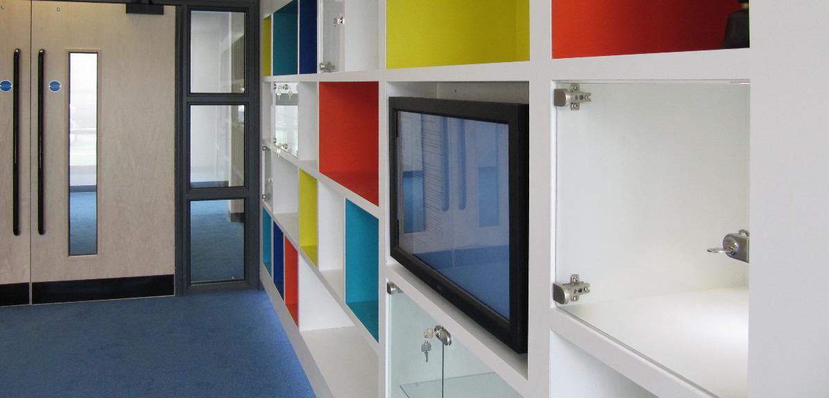 Classroom Storage Wall