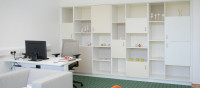 Storage wall in office