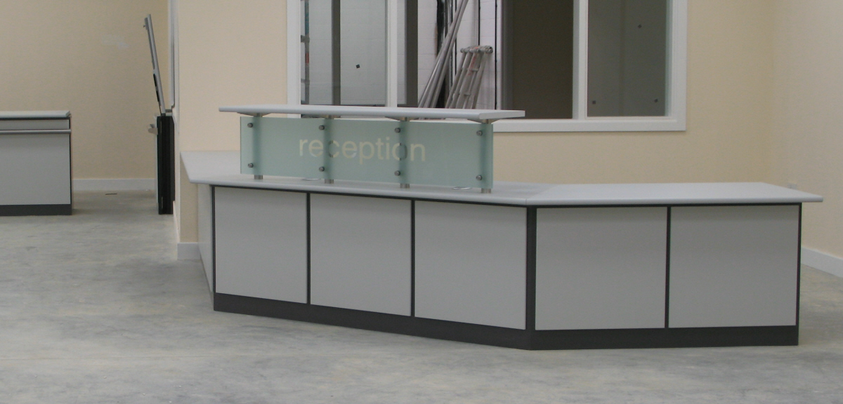 reception area glass