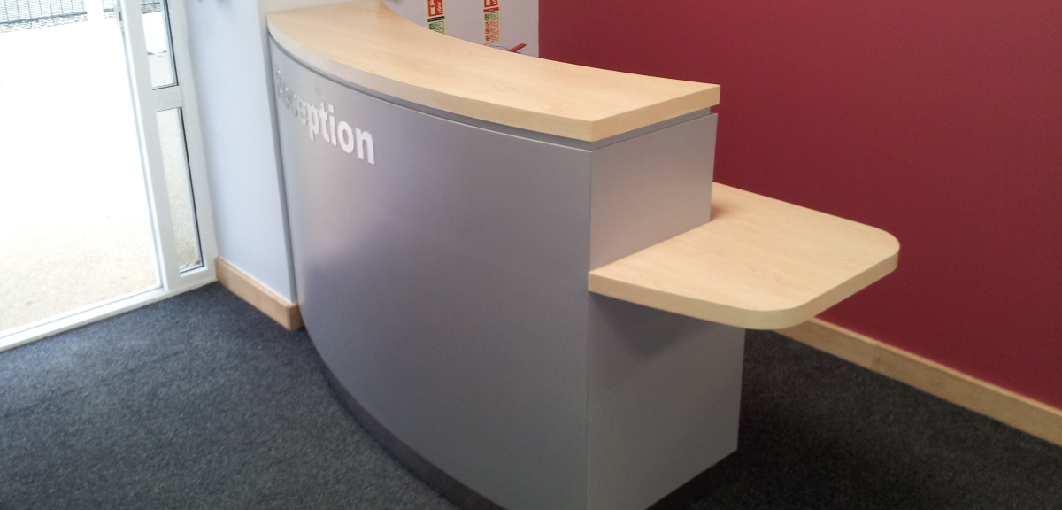 reception wooden design
