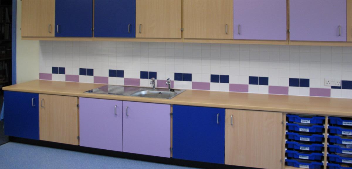 classroom kitchen area