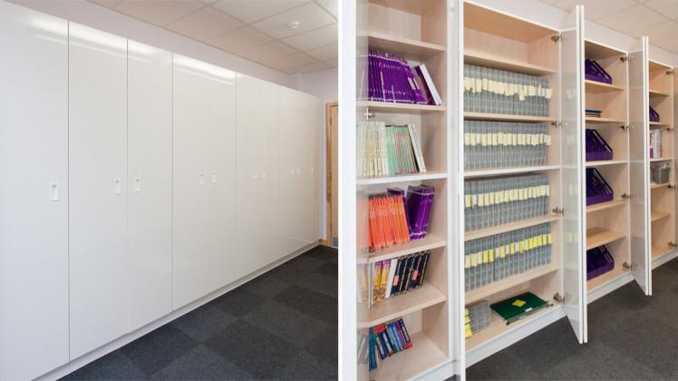 Classroom Storage Walls