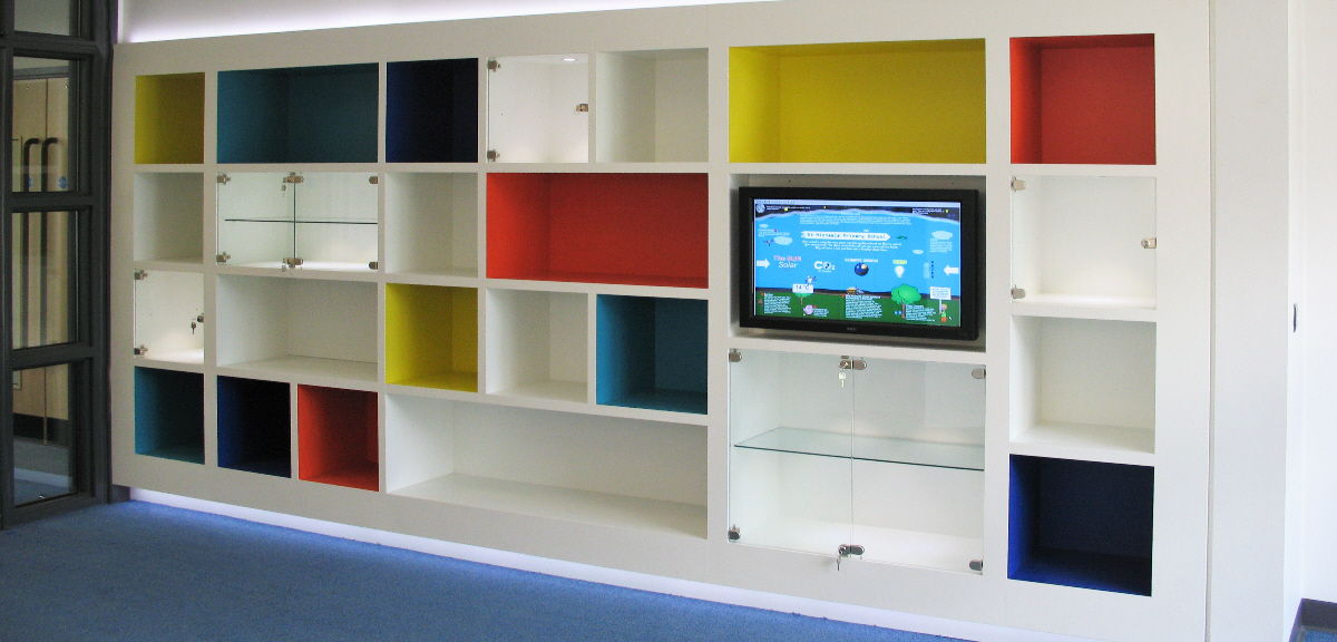 Classroom Storage Wall with Tv Unit