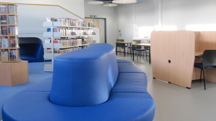 A School Library - Furniture provided by Benchmark Products