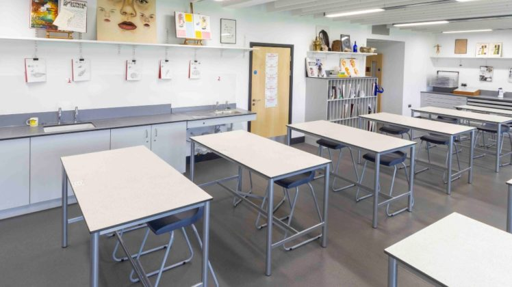 school art class tables