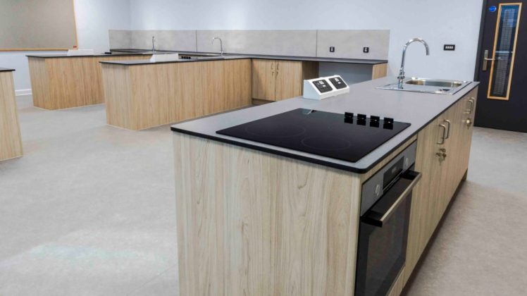 fitted furniture for school food tech